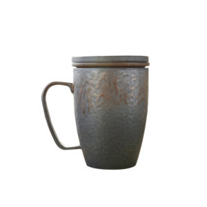 Ceramic tea mug with filters 350ml
