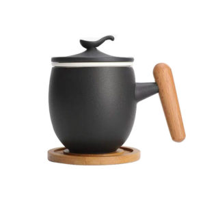 Ceramic tea mug with filters 500ml