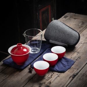 Ceramic teapot gaiwan tea set portable
