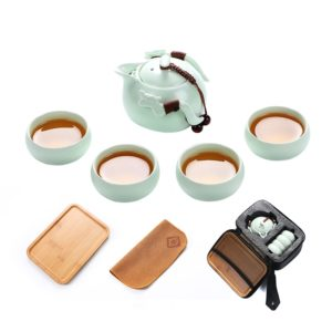 Ceramic teapot gaiwan portable travel tea set