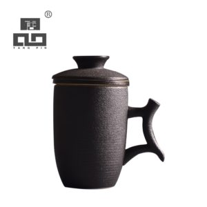 TANGPIN japanese ceramic tea mugs with filter coffee mugs office personal teacup 330ml