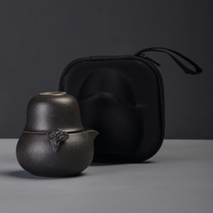 Japanese ceramic teapot travel tea set
